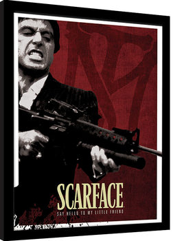 Zarámovaný plagát Scarface - Blood Red