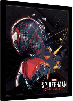Zarámovaný plagát Spider-Man Miles Morales - System Shock