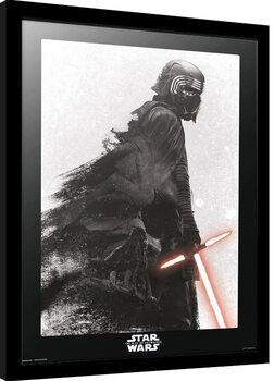 Zarámovaný plagát Star Wars: Epizóda IX - Vzostup Skywalkera - Kylo Ren