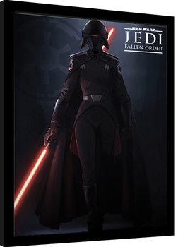 Zarámovaný plagát Star Wars: Jedi Fallen Order - Inquisitor