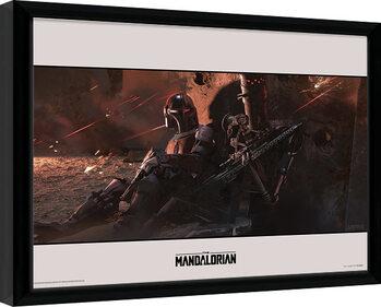 Zarámovaný plagát Star Wars: The Mandalorian - Cover