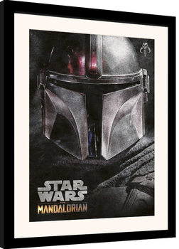 Zarámovaný plagát Star Wars: The Mandalorian - Helmet