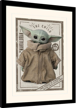 Zarámovaný plagát Star Wars: The Mandalorian - The Child