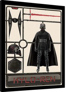 Zarámovaný plagát Star Wars: Vzostup Skywalkera - Kylo Ren Model