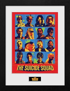 Zarámovaný plagát Suicide Squad - Bunch