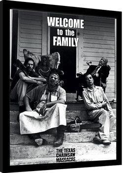 Zarámovaný plagát Texas Chainsaw Massacre - Newsprint - Welcome to the Family