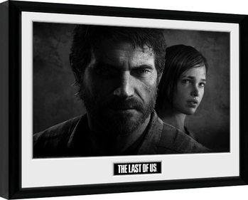 Zarámovaný plagát The Last Of Us - Black and White