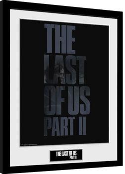 Zarámovaný plagát The Last Of Us Part 2 - Logo