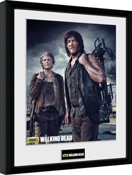Zarámovaný plagát The Walking Dead - Carol and Daryl