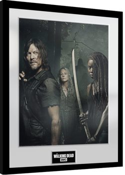 Zarámovaný plagát The Walking Dead - Season 9 Trio