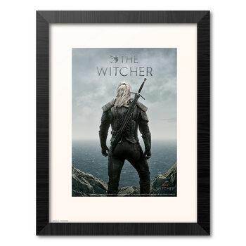 Zarámovaný plagát The Witcher - Geralt Backwards