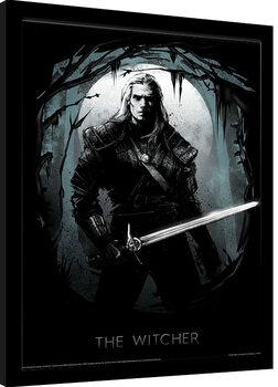 Zarámovaný plagát The Witcher - Lair of the Beast
