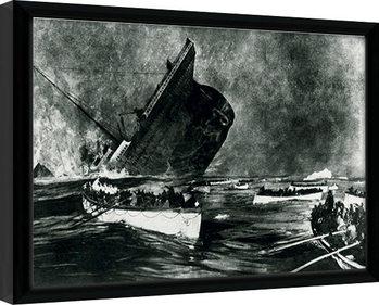 Zarámovaný plagát Titanic