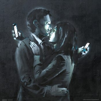Obrazová reprodukce  Banksy - Mobile Phone Lovers Close Up