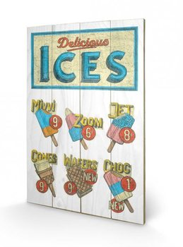 Obraz na drewnie BARRY GOODMAN - delicious ices