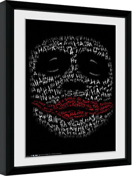 Batman: Mroczny rycerz - Joker Haha Type oprawiony plakat