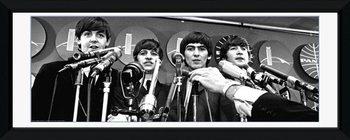 Beatles - interwiew Zarámovaný plagát