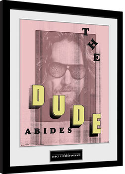 Big Lebowski - Abides zarámovaný plakát