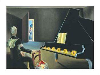Obrazová reprodukce Částečná halucinace: Šest zjevení Lenina na klavíru, 1931