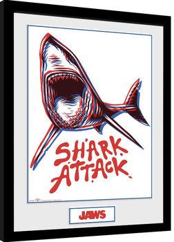Čelisti - Shark Attack zarámovaný plakát