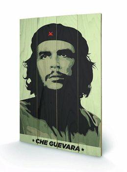 Obraz na drewnie CHE GUEVARA - khaki green
