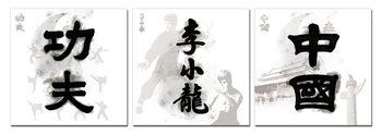 Obraz Čínské znaky - Kung Fu, Bruce Lee, Čína