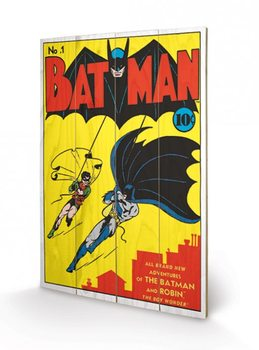 Obraz na drewnie DC Comics - Batman No.1