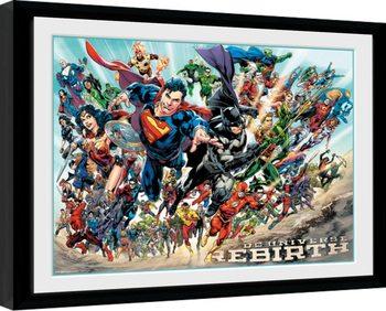 DC Universe - Rebirth oprawiony plakat