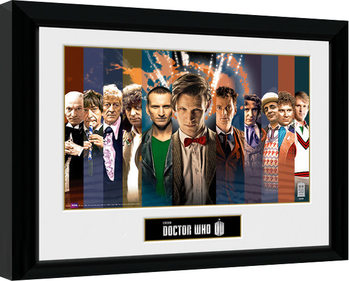 Doctor Who - 11 Doctors zarámovaný plakát