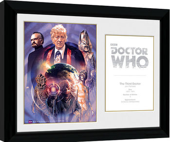 Doctor Who - 3rd Doctor Jon Pertwee zarámovaný plakát