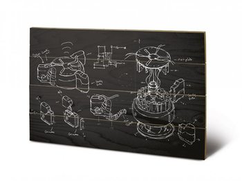 Obraz na drewnie Doctor Who - Chalk Board