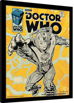 Doctor Who - Cyberman Comic Zarámovaný plagát