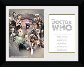 Doctor Who - Doctors zarámovaný plakát