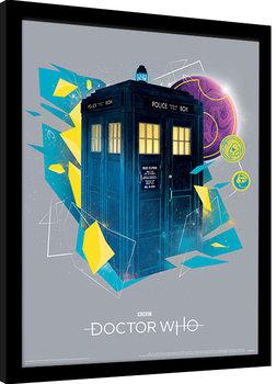 Doctor Who - Geometric Tardis zarámovaný plakát