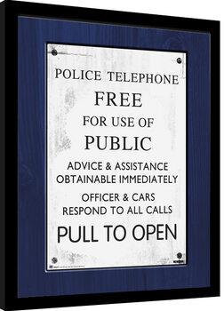 Doctor Who - Tardis Sign oprawiony plakat