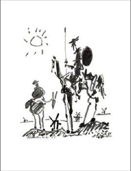 Obrazová reprodukce  Don Quichotte