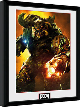 Doom - Cyber Demon Zarámovaný plagát