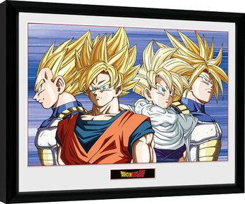 Dragon Ball Z - Group zarámovaný plakát