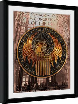Fantastické zvery a ich výskyt - Magical Congress Zarámovaný plagát