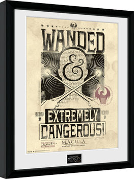 Fantastyczne zwierzęta i jak je znaleźć - Wanded oprawiony plakat