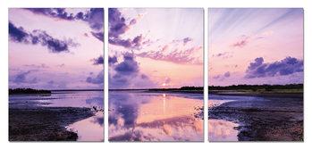 Obraz  Fialová obloha nad jezerem