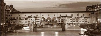 Obrazová reprodukce  Firenze Ponte Vecchio misure e supporti su