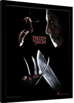 Freddy Vs Jason - Face Off zarámovaný plakát