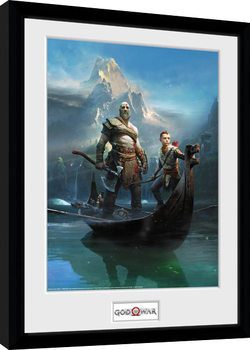God Of War - Key Art oprawiony plakat