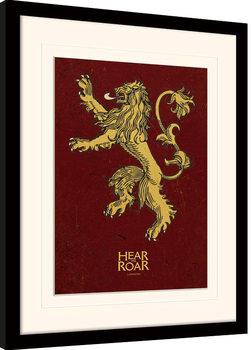Gra o tron - Lannister oprawiony plakat