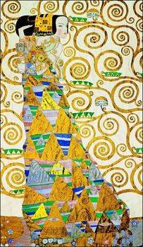 Gustav Klimt - L Attesa Obrazová reprodukcia