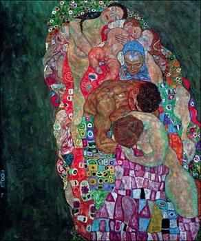 Gustav Klimt - Tod Und Leben Obrazová reprodukcia