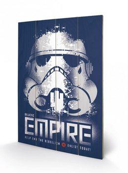 Obraz na drewnie Gwiezdne wojny - Enlist
