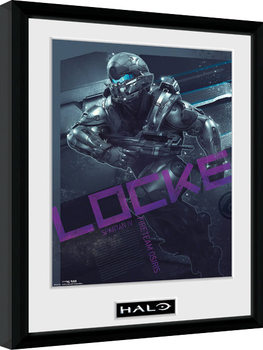 Halo 5 - Locke zarámovaný plakát