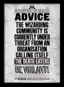 Harry Potter - Be Vigilant zarámovaný plakát
